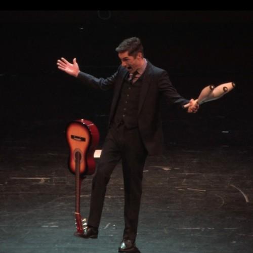 Josh Casey comedy juggler guitar balance