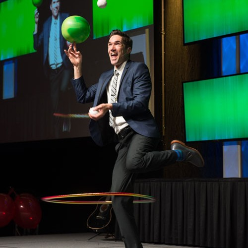 Josh Casey comedy juggler corporate event